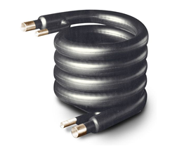 Coaxial Coils for condensers, chillers and heat pumps